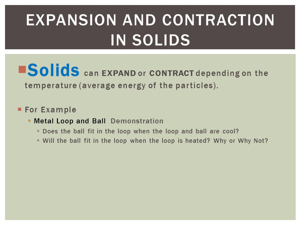 expand or contract