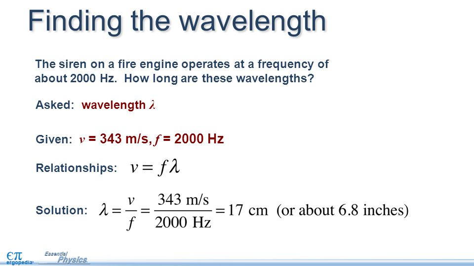 Finding the wavelength