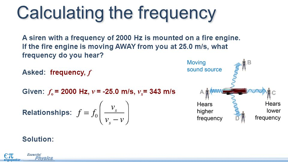 Calculating the frequency