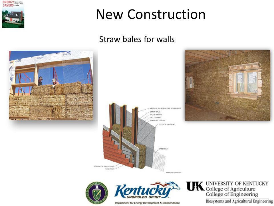 New Construction Straw bales for walls