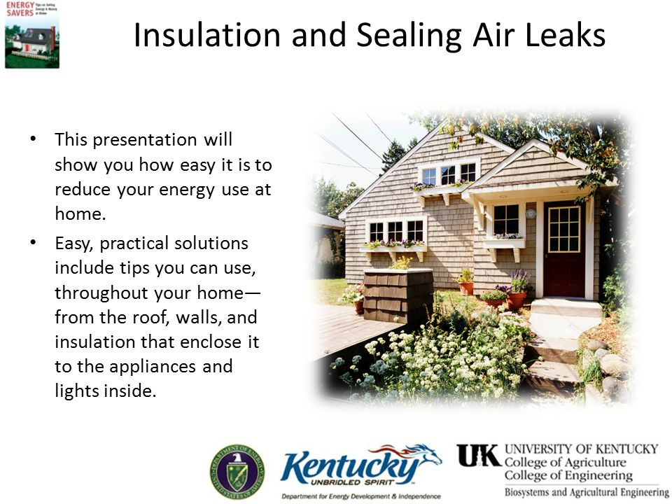 Insulation and Sealing Air Leaks