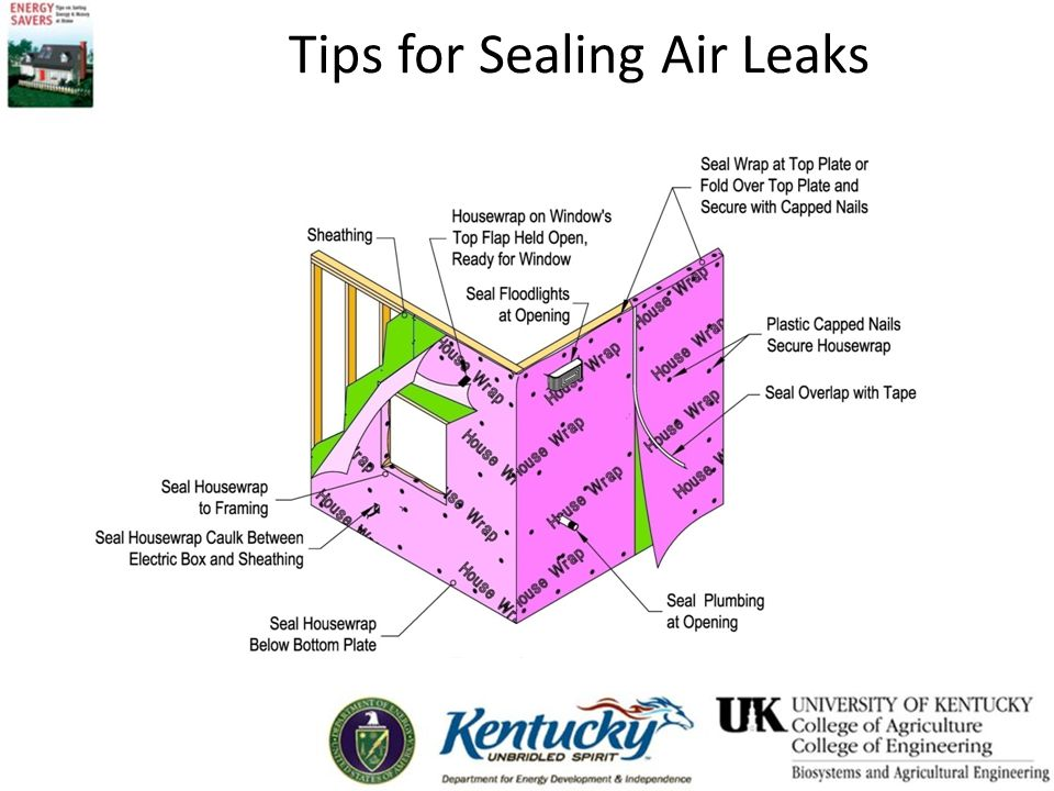 Tips for Sealing Air Leaks