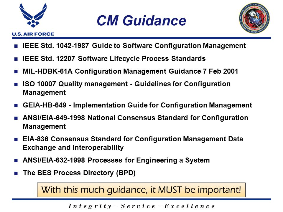 software configuration management standards pdf