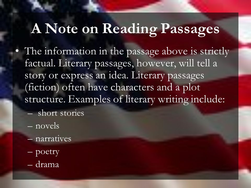 American Literature End of Course Test Study Guide Condensed Version