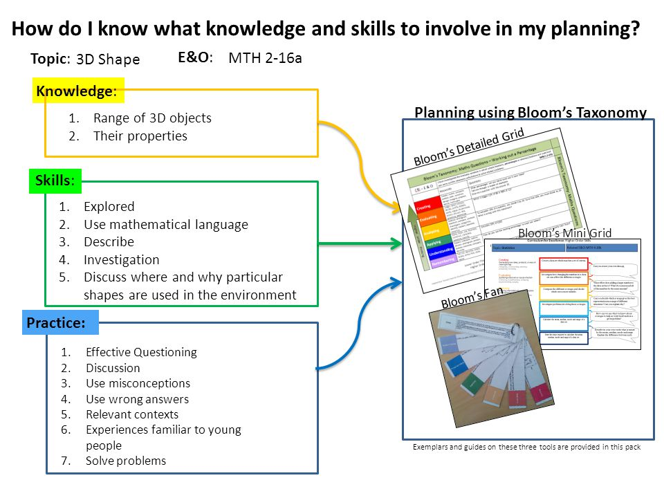 How do I know what knowledge and skills to involve in my planning