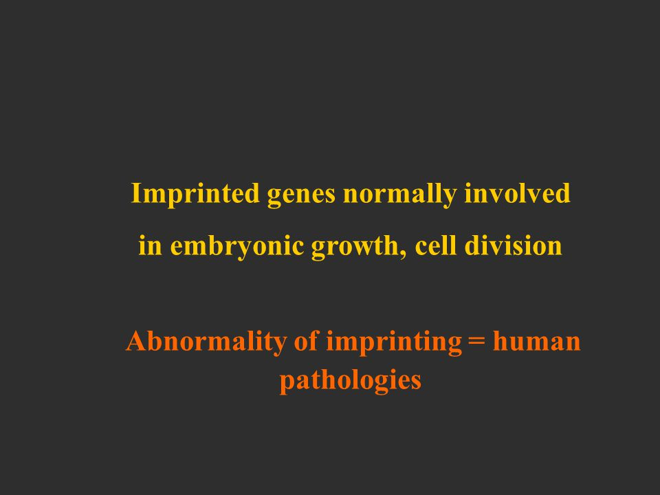 differences from mendelian heredity imprinting dynamic mutations
