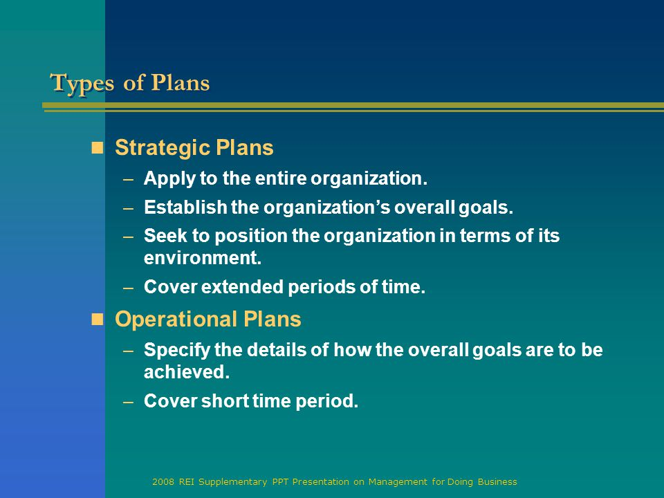 What are operational plans for a business? Definition, types.