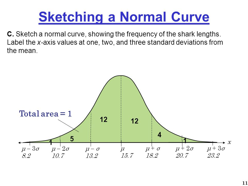 Sketching a Normal Curve