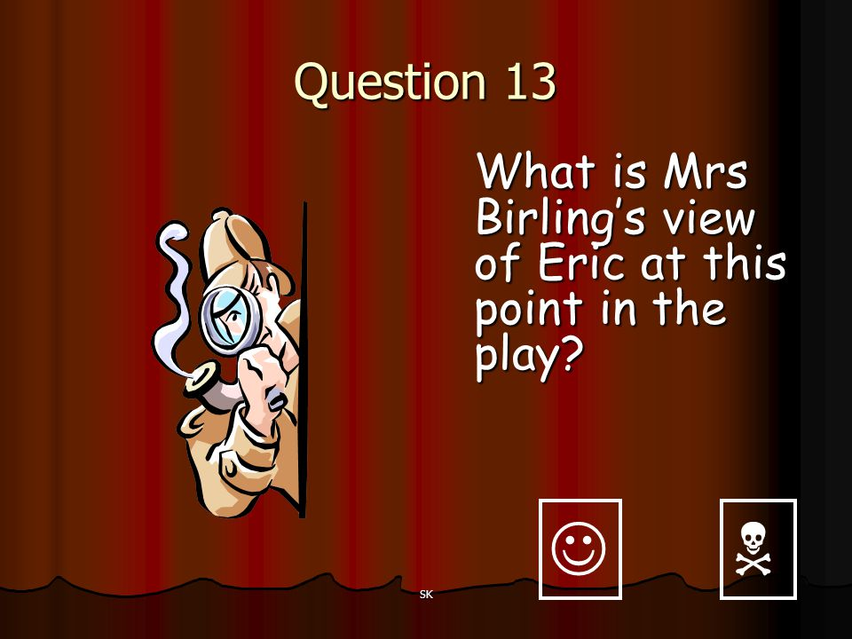 Question 13 What is Mrs Birling's view of Eric at this point in the play   SK