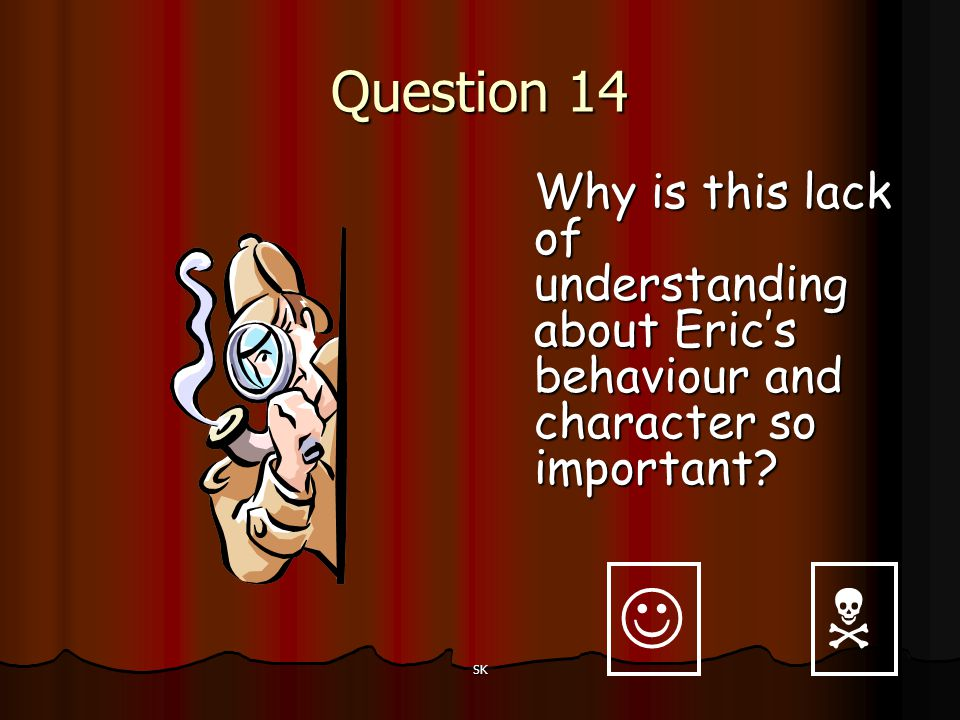 Question 14 Why is this lack of understanding about Eric's behaviour and character so important 