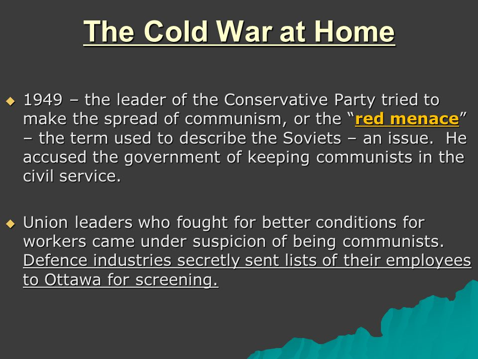 Canada and The Cold War ppt download