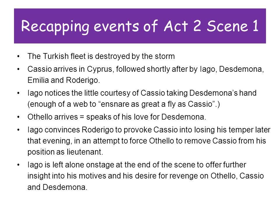 Recapping Events Of Act 2 Scene 1