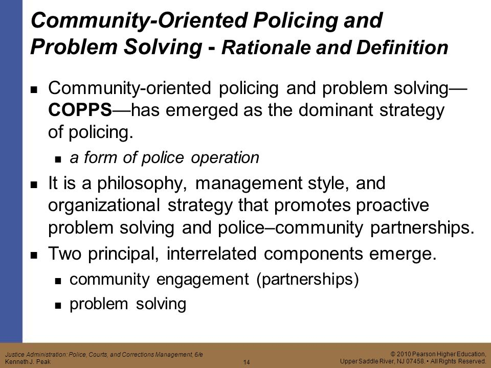 community oriented policing and problem solving (copps)