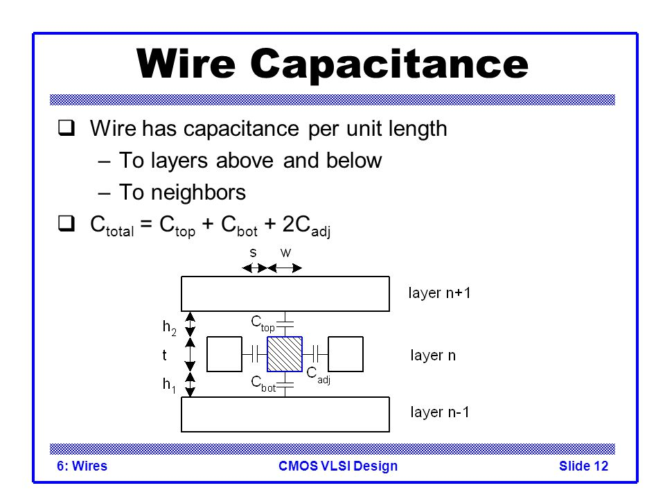 Ee466 Vlsi Design Lecture 11 Wires Ppt Download