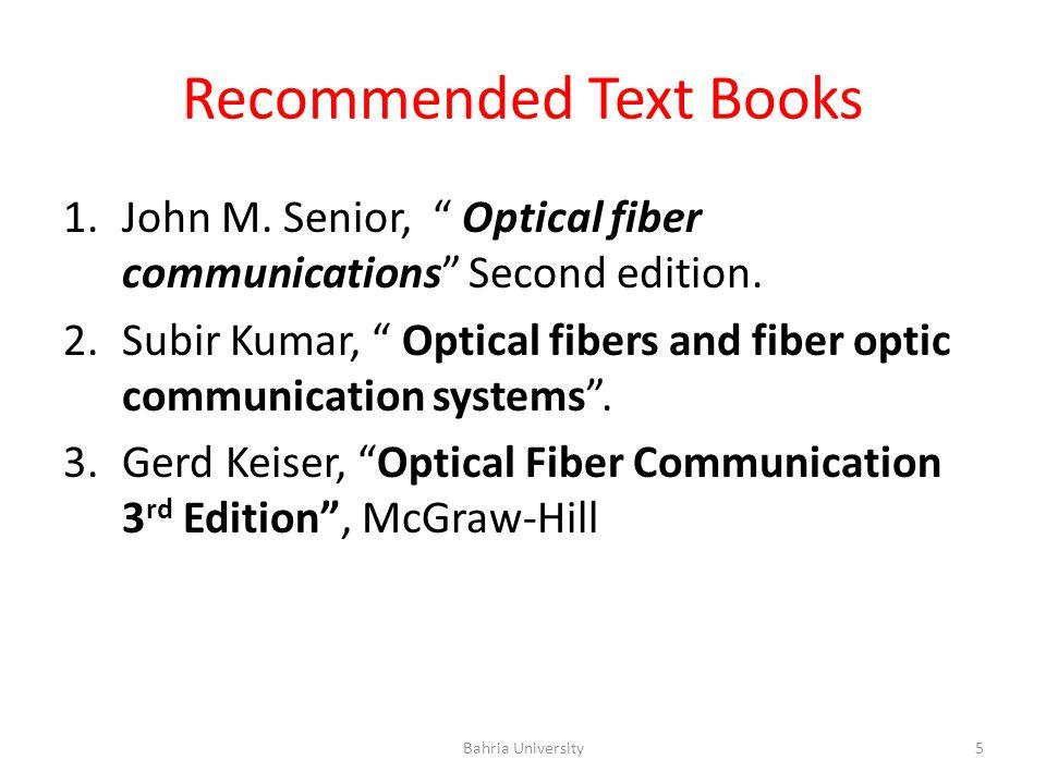 Optical Fiber Communications Ppt Video Online Download