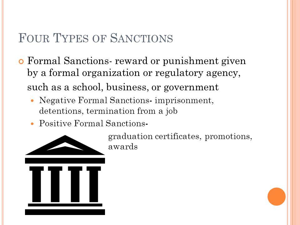 formal sanctions sociology definition