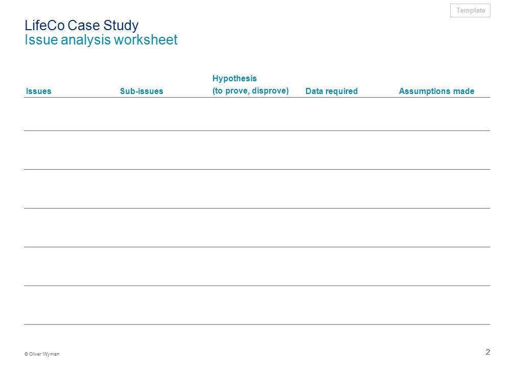 Lifeco Case Study Problem Definition Worksheet Ppt Download