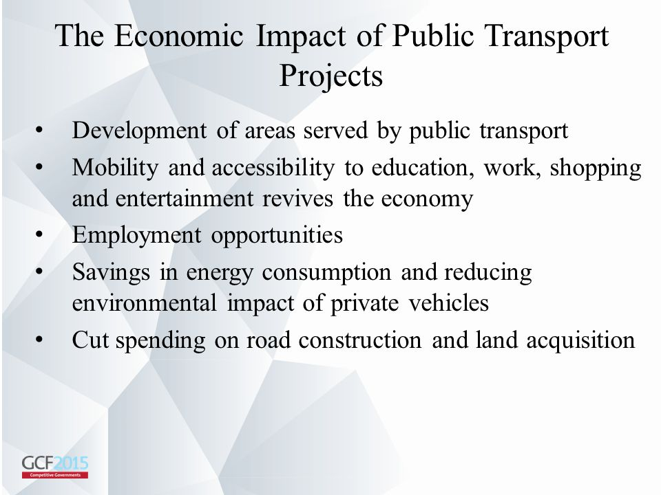 The Economic Impact of Public Transport Projects
