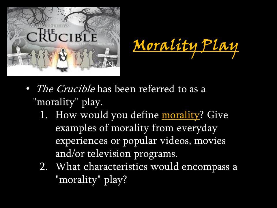 define morality play