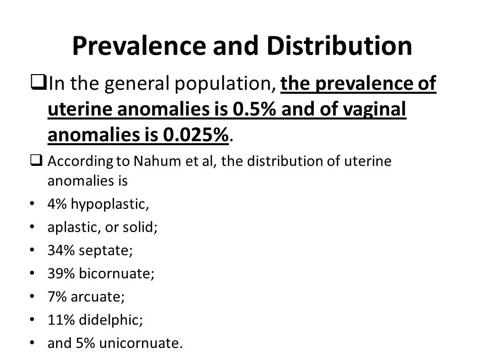 Prevalence and Distribution
