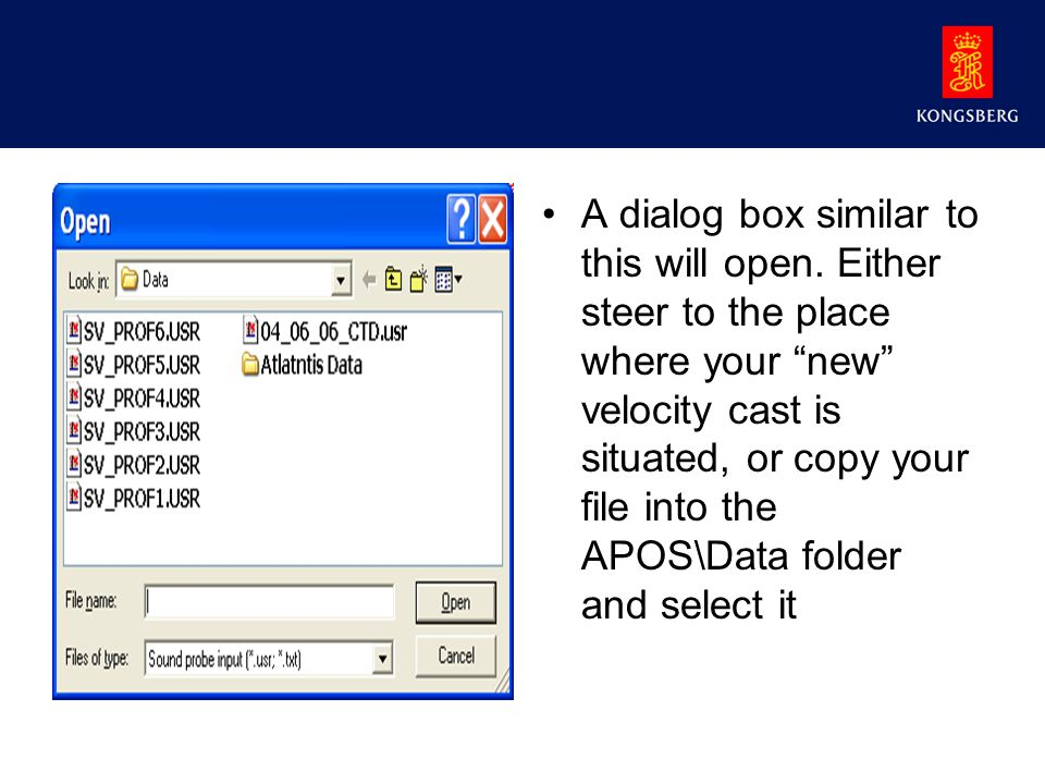 A dialog box similar to this will open