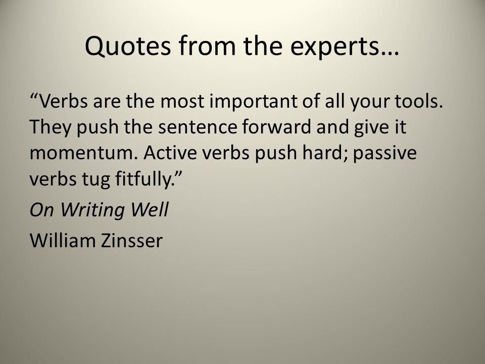 Quotes from the experts…