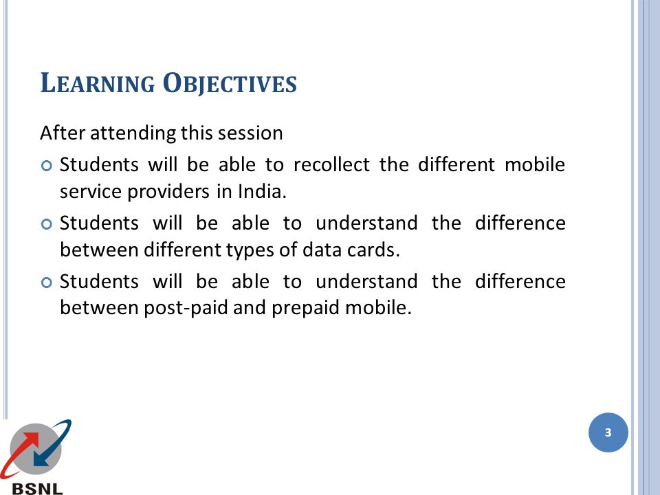 Learning Objectives After attending this session