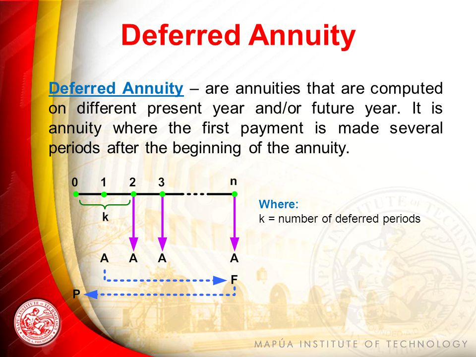 Annuity contract for cash inflows, outflows. Example calculationss.