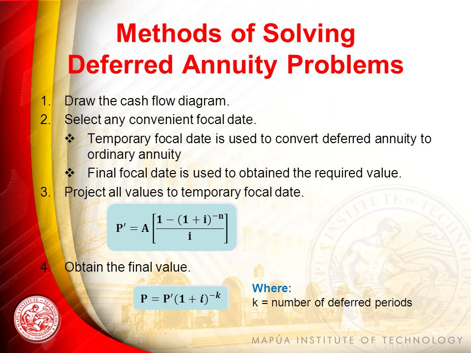 Deferred annuity.
