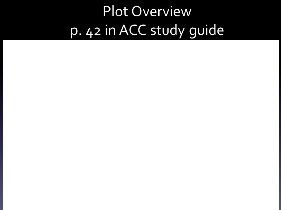 Plot Overview p. 42 in ACC study guide