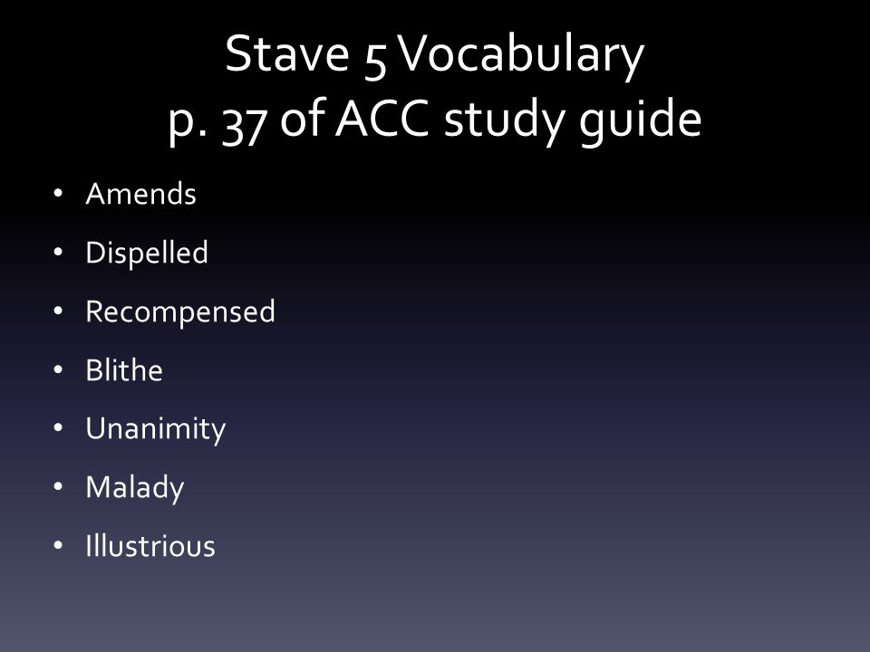 Stave 5 Vocabulary p. 37 of ACC study guide