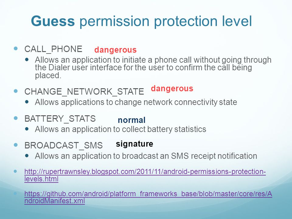 Android Permission System - ppt download