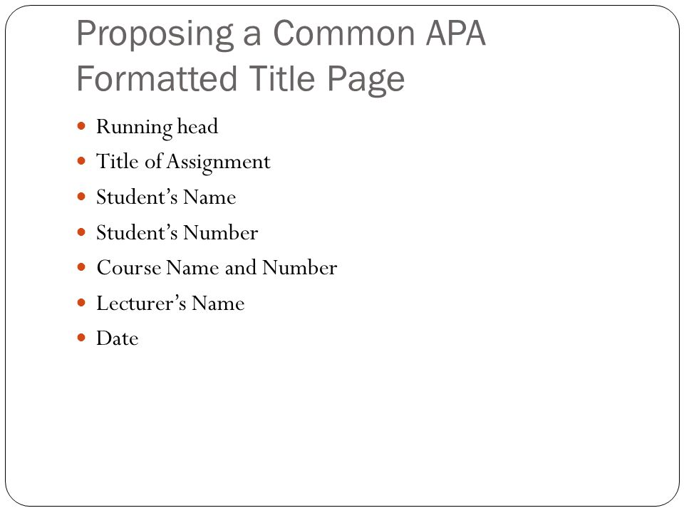 apa format title page running head