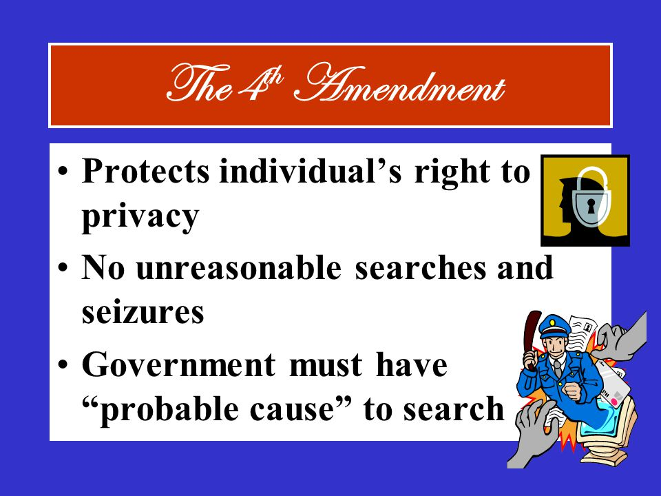 The 4th Amendment Protects individual's right to privacy