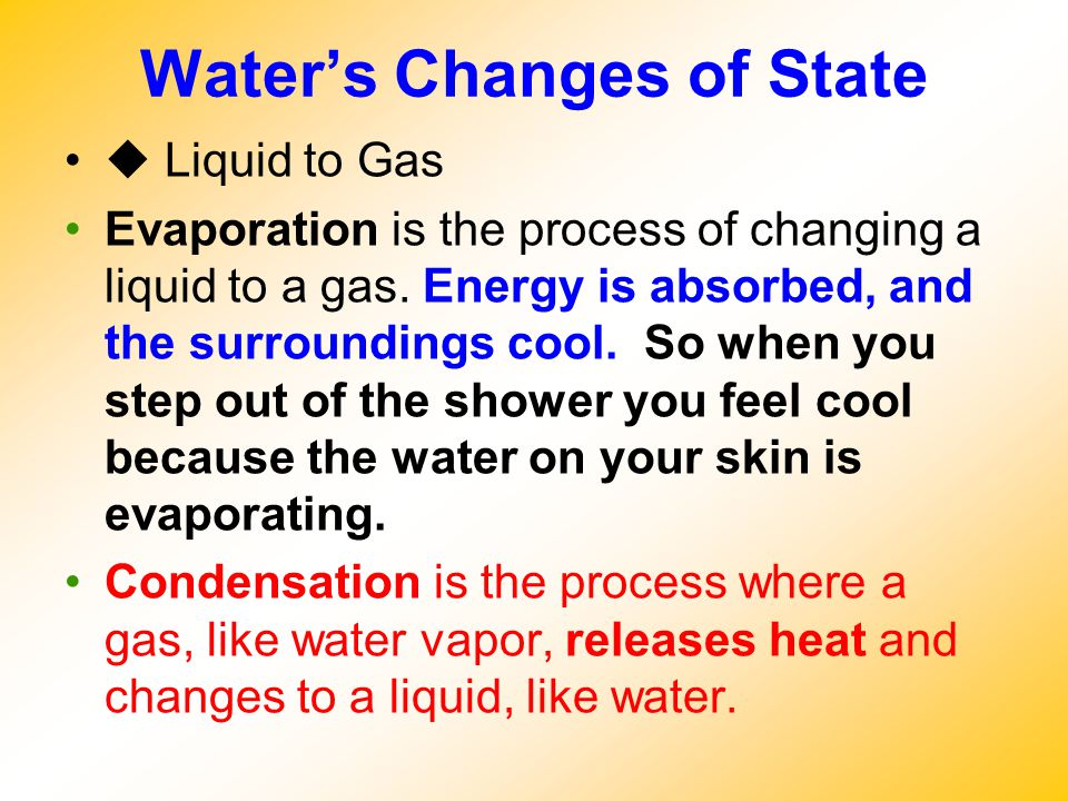 Water's Changes of State