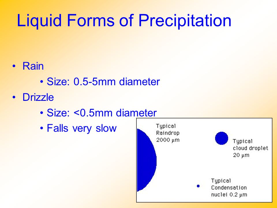 Liquid Forms of Precipitation