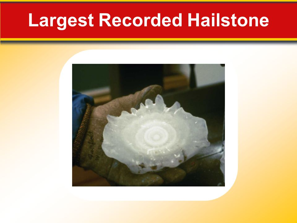 Largest Recorded Hailstone