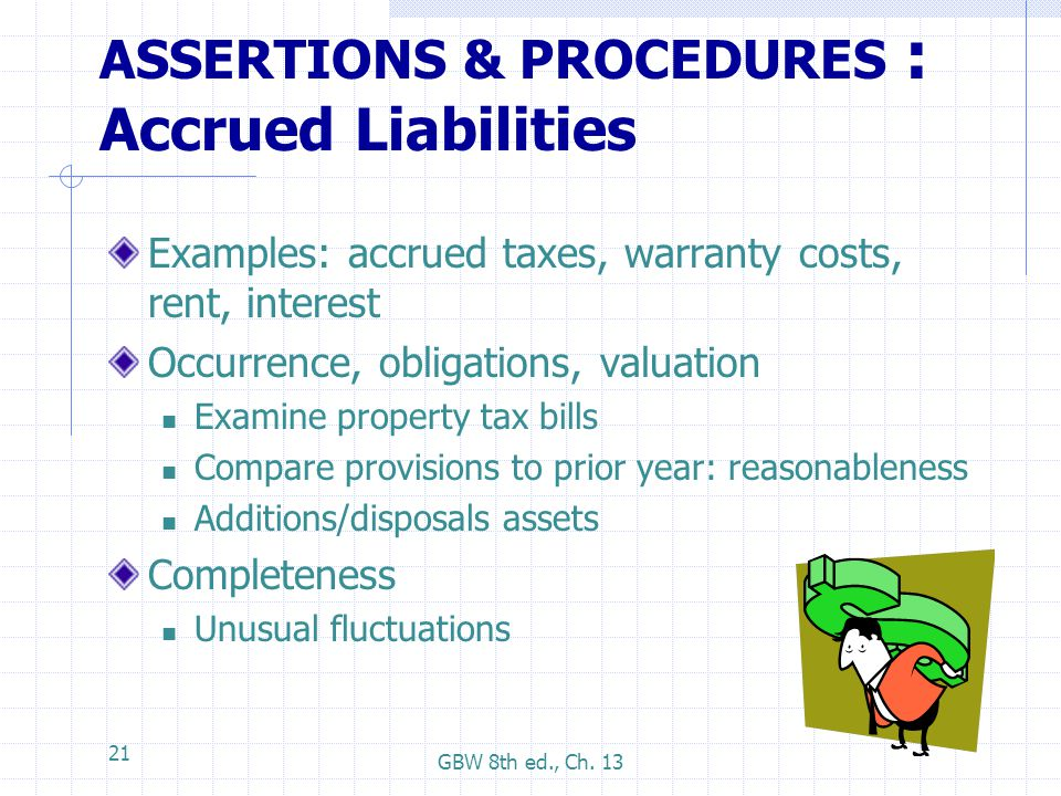 ASSERTIONS & PROCEDURES : Accrued Liabilities