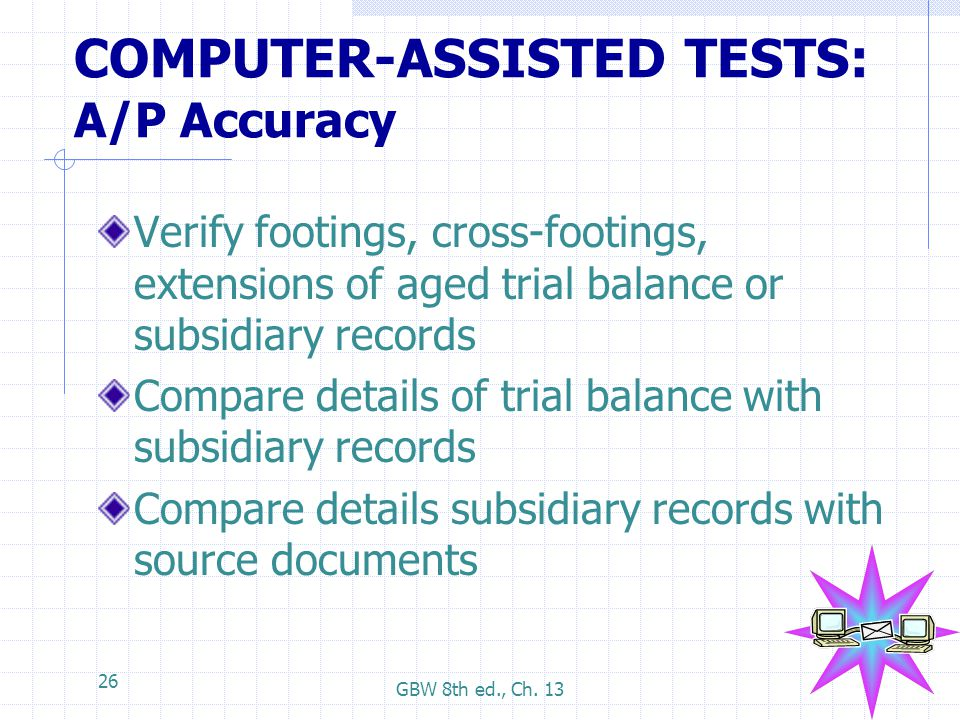 COMPUTER-ASSISTED TESTS: A/P Accuracy