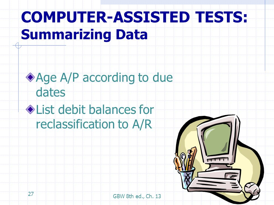 COMPUTER-ASSISTED TESTS: Summarizing Data