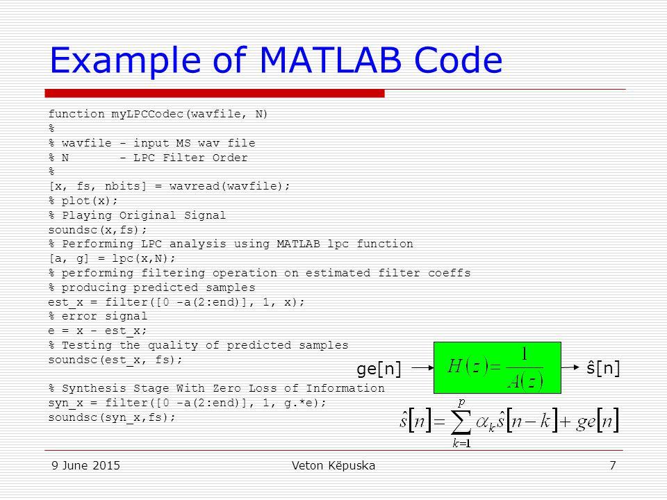 Matlab Music Code