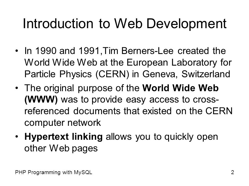 Appendix A Introduction to Web Development PHP Programming