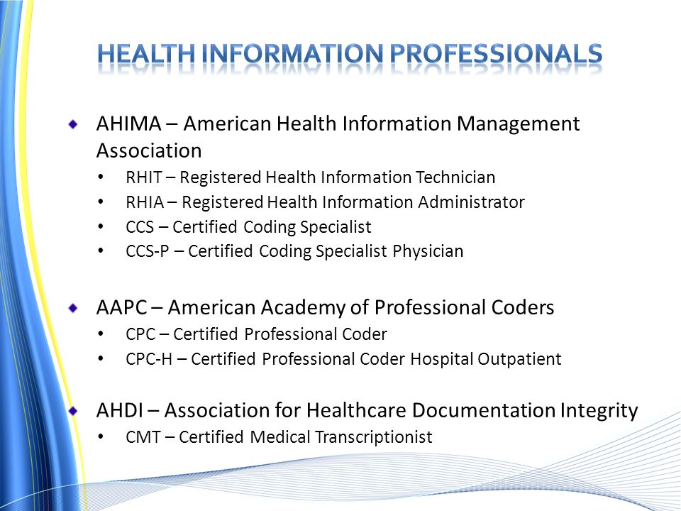 careers in health information management and ahima - ppt  ...