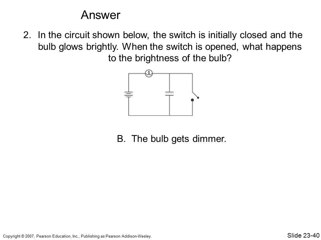 Chapter 23 Circuits Topics Sample Question Ppt Video Online Download Opens In A Series Circuit 57 Answer The