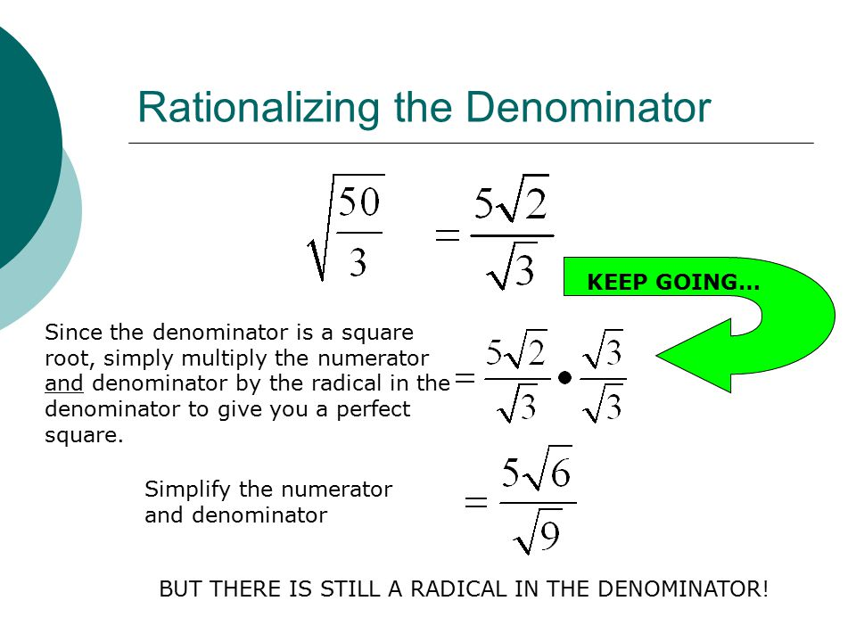 Rationalizing Denominators With Square Roots Www Picswe Com
