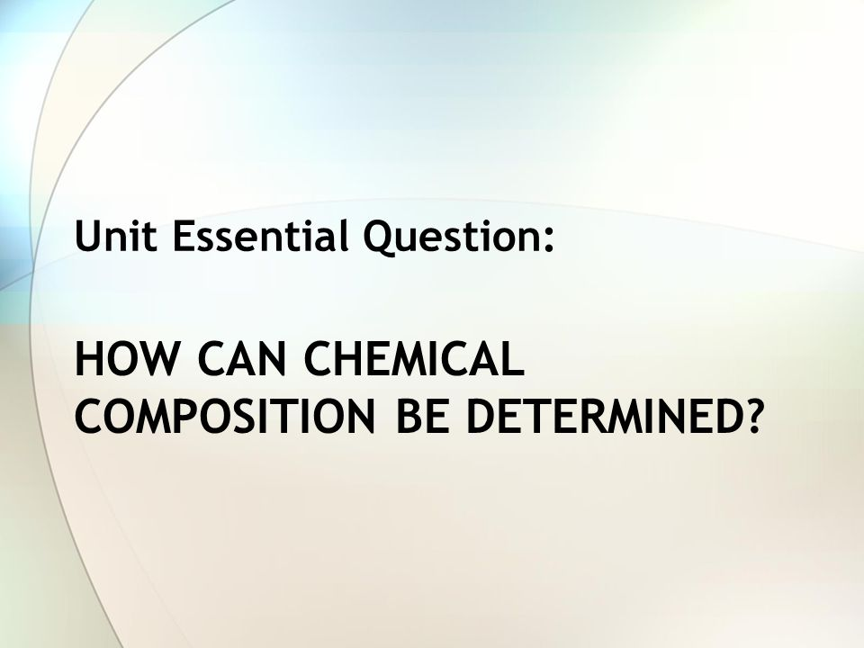 How can chemical composition be determined