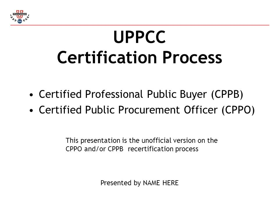 UPPCC Certification Process - ppt video online download