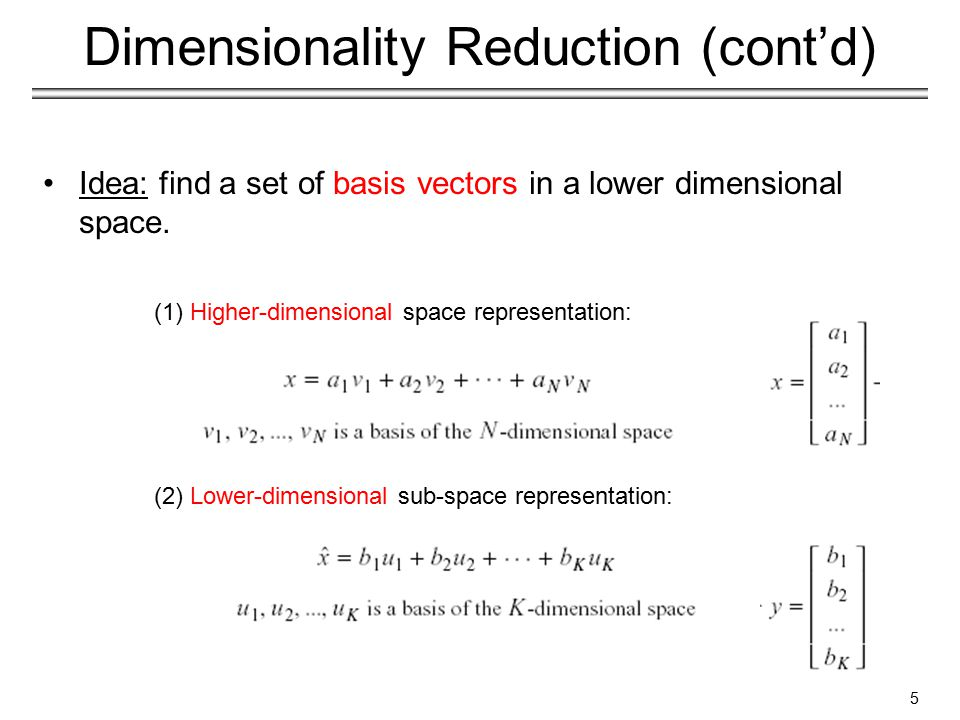 Dimensionality reduction chapter 3 duda et al section ppt video 5 dimensionality reduction publicscrutiny Image collections