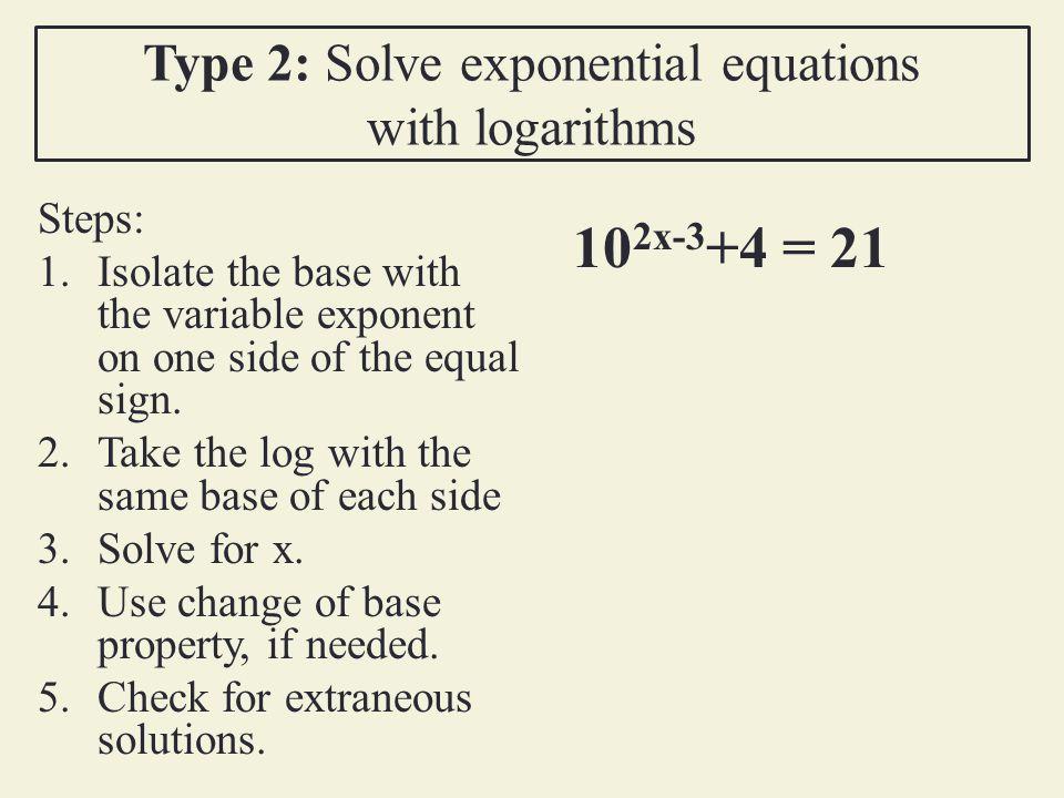 Logarithm Solve Worksheet Answers