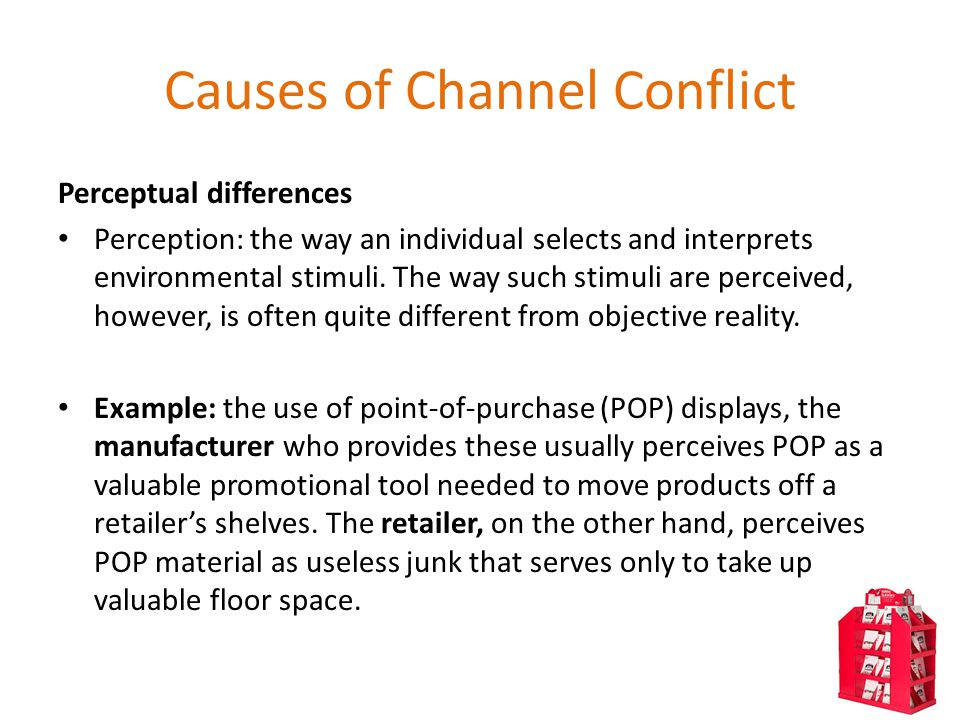 channel conflicts Distribution - channel conflict containing channel conflict is a critical distribution strategy objective given that their prospective profitability is the primary reason that retailers carry products, projected profit margins and sales volume are critical variables.